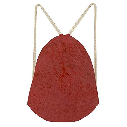 Goloingm Tuscan Red Venetian Plaster Unisex Drawstring Gym Sport Bag, Large Lightweight Gym Sackpack Backpack School Rucksack