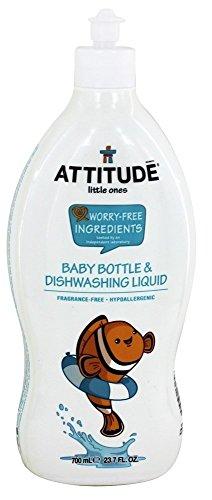 Attitude Baby Bottle and Dishwashing Liquid Fragrance Free, Fragrance Free, 23.7 Fluid Ounce