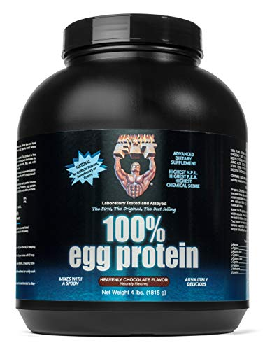 (Healthy 'N Fit 100% Egg Protein- Chocolate (4lb): 100% Egg White Protein Plus Natural Peptides. The Highest Quality, Purest, Most Effective, All Natural Protein.)