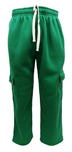 Henry & William Men's Basic Fleece Cargo Pants XL Kelly Green ()