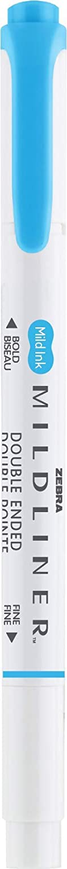 Violet Zebra Pen Mildliner 12-Count Double Ended Highlighter Broad and Fine Tips