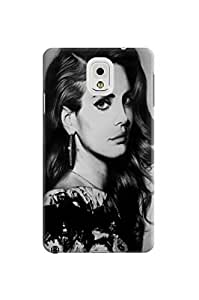 2014 New Waterproof Dirtproof Snowproof fashionable TPU Lovely Lana Del Rey Protection Case for Samsung Galaxy Note 3
