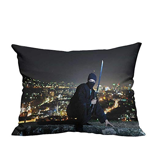 YouXianHome Decorative Couch Pillow Cases Ninja Assasin Hold