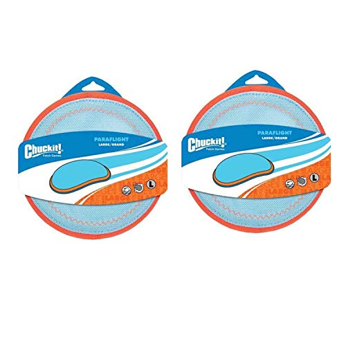 Chuckit Paraflight Flyer Dog Toy Large - 2 Pack