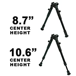 UTG New Gen Hi Pro Shooters Bipod, Quick Detach, 8.7\