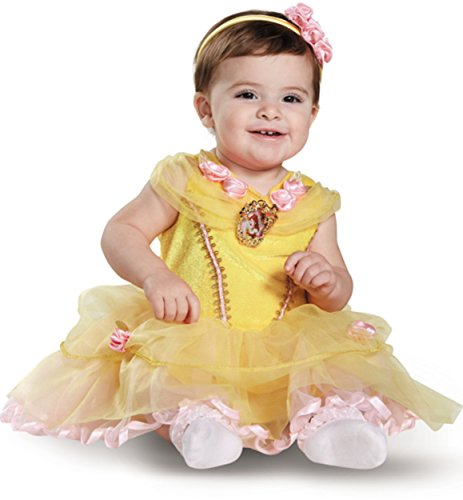 Disney Baby Girls' Belle Infant Costume, Yellow, 12 to 18 Months (Belle Baby Costume)