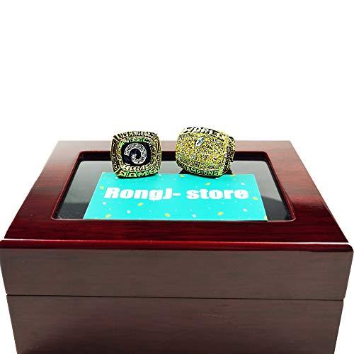 LEMOISTARS 2 Pcs NFL Rams 1979+1999 St. Louis Rams Football Championship Rings -