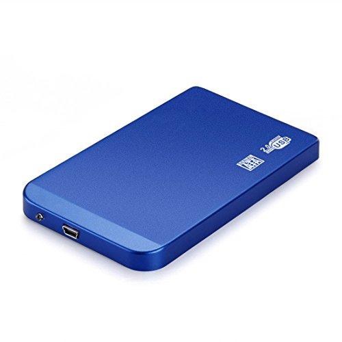 Joylive Blue 2.5 Inch Usb 2.0 Ultra Slim Sata Hard Drive Disk Hdd External Enclosure Case Box