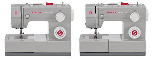 SINGER 4423 Heavy Duty Model Sewing Machine, With 23 Built-In Stitches - Fully Automatic 1-step Buttonhole, 4 Stretch Stitches, 12 Decorative Stitches and 6 Basic Stitches (Pack of 2)