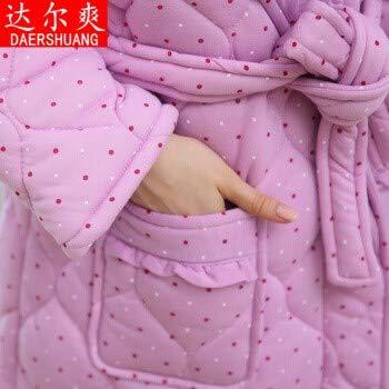 Mujer Albornoz Xxl Algodón Camisola Xl Pijama Otoño Chaqueta E Casa Baño Invierno Bata De 4v1qaxq8