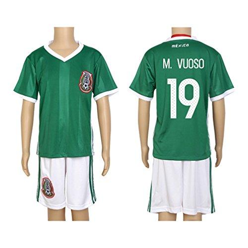 - 2016 Copa #19 M. Vuoso Green Home Kids Soccer Jersey & Short Kit Set
