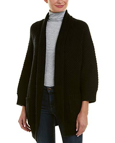 - Vince Womens Marled Wool & Cashmere-Blend Car Coat, L, Black