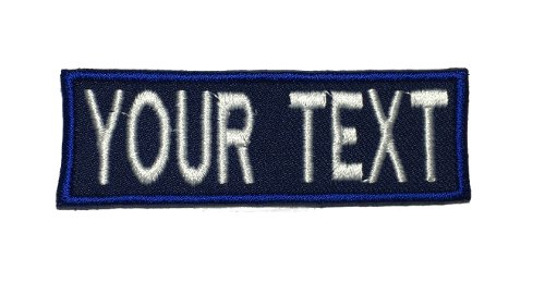Custom Embroidered Name Tape, Personalized Label,Tag Dark Navy blue (Sew On, 3W)