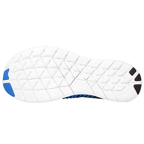 Nike Free Rn Flyknit Mtlc (gs) Foto Blu / Nero-gamma Blu-arancio Totale