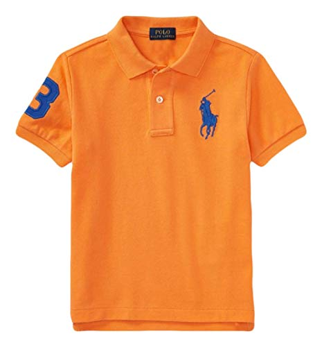 RALPH LAUREN Boys Cotton Mesh Polo Shirt, Various Sizes, Various Colors (Spring Orange)