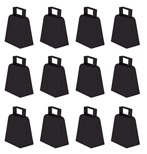 Beistle 12-Pack Cowbells, 4-Inch, Black -