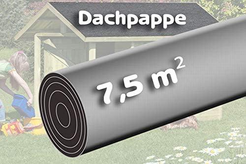 Gartenpirat rollo con 7,5 m² de tela asfáltica arenosa para techos color negro: Amazon.es: Bricolaje y herramientas