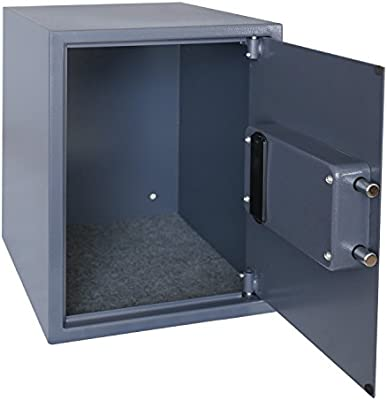 HMF 4612812 Caja Fuerte, Cerradura Electrónica, Caja de Seguridad para carpeta A4, 48 x 36 x 37 cm, antracita: Amazon.es: Bricolaje y herramientas