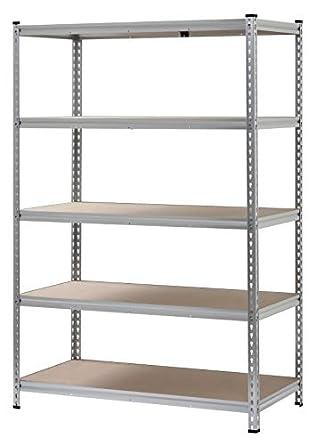Estantería de aluminio sin tornillos de 5 estantes