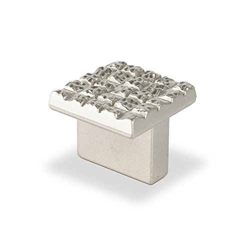 TOPEX HARDWARE P2046.16NMG TOPEX HARDWARE P2046.16NMG Mosaic Design Square Knob, 25mm by 25mm, Bright Chrome, 25mm by 25mm, Bright Chrome from Topex Hardware