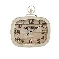 Deco 79 92218 Metal Wall Clock, 22 x 23