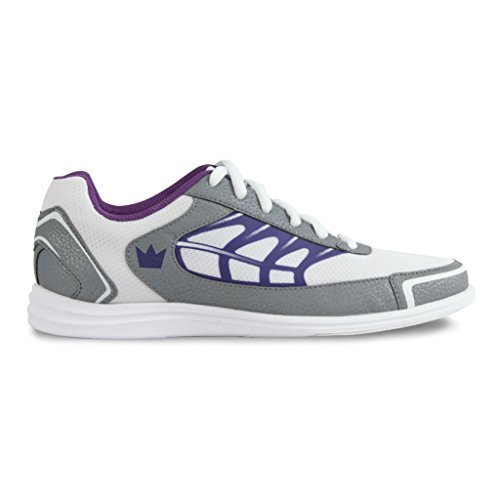 Brunswick Eclipse Women's Bowling Shoes, White/Silver/Purple, 8.5