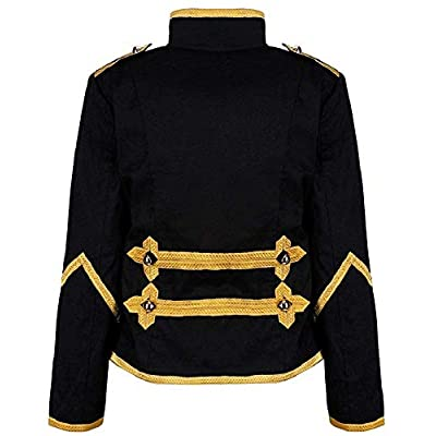 Ro Rox Womens Military Parade Emo Punk Drummer Jacket at Women's Coats Shop