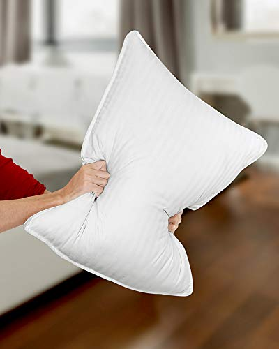 Utopia Bedding Premium Fiber Filled Bed Pillows (2 Pack, White) Standard/Queen Sized Pillows For Sleeping