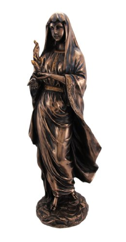 12 Inch Hestia in Robes Grecian Goddess Resin Statue Figurine