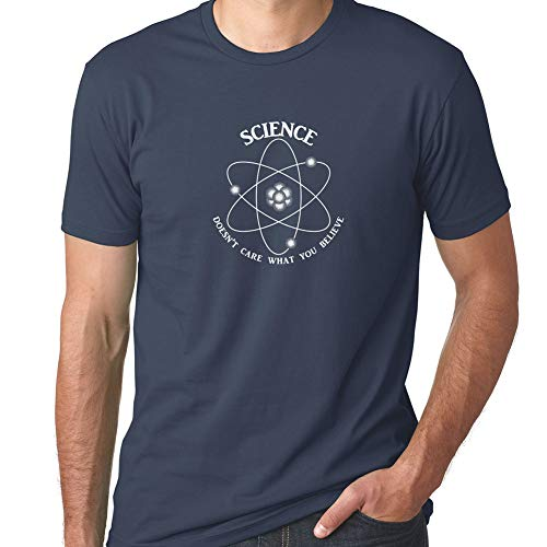 Funny Science Shirt for Men Science Doesn't Care What You Believe (M, Indigo) (Bill Nye The Science Guy Sound Worksheet)