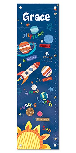 Personalized Growth Chart - Personalized Growth Chart Ruler Outer Space Nursery Décor