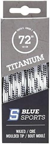 1 Pair of Titanium White//Black Wax MT Laces