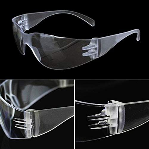1 PC Gafas de Seguridad Laboratorio Protecci/ón Ocular Gafas Protectoras m/édicas Lentes Transparentes Gafas de Seguridad en el Lugar de Trabajo Suministros Antipolvo Transparente