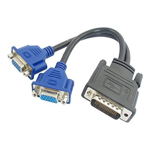 Agile-Shop DMS-59 Pin Male to Dual VGA Female Y Splitter Video Card Adapter Cable