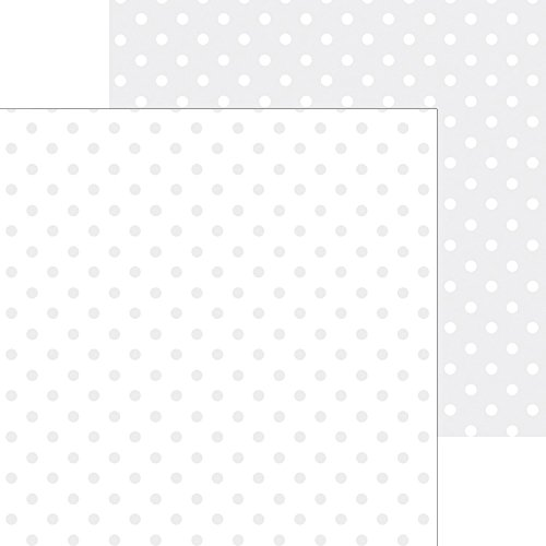 DOODLEBUG 5073 Petite Swiss Dot Cardstock (25 Sheets Per Pack), 12