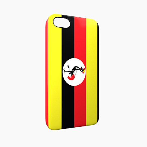 Flag of Uganda Glossy Hard Snap-On Protective iPhone 5 / 5S / SE Case Cover