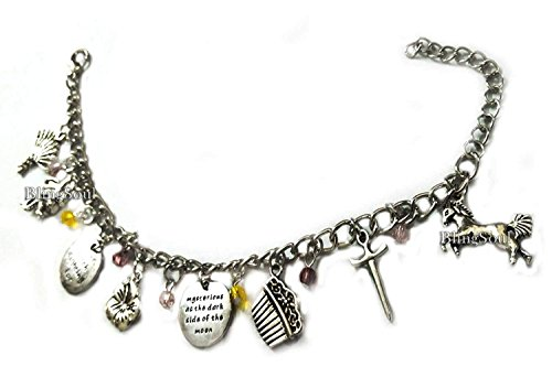 Mulaan Charm Bracelet - Mulaan Warrior Sword Horse Costume Jewelry Gift Merchandise for Women (Silver) for $<!--$15.99-->