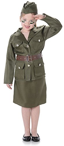 Army Girls WW2 Military 1940s Soldier Uniform Book Day Childrens Kids Costume (Small 4 -  sc 1 st  Amazon UK & Army Girls WW2 Military 1940s Soldier Uniform Book Day Childrens ...