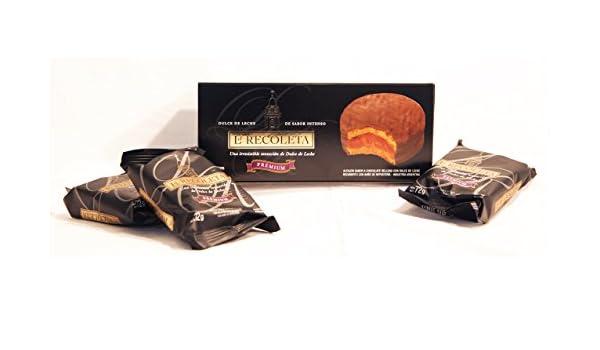Alfajores rellenos de dulce de leche y Bañados en Chocolate Negro. LA RECOLETA Premium. Caja de 6 Alfajores.: Amazon.es: Alimentación y bebidas