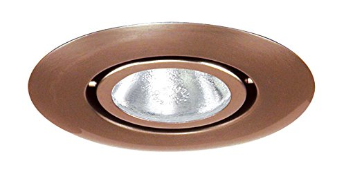 Juno Lighting 440-ABZ 4-Inch Flush Gimbal Ring Recessed Trim, Aged Bronze