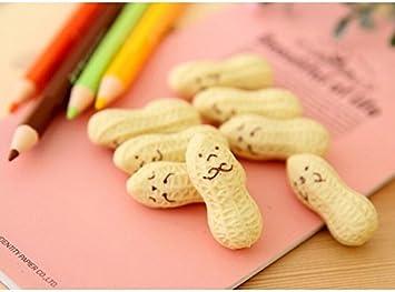 6PCS Cute Kawaii Peanut Rubber Eraser Lovely Cartoon Stationery for Kid Mod B1Q9
