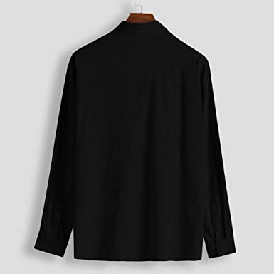 Aiserkly - Polo para Hombre con Bolsillo de Mezcla de algodón ...