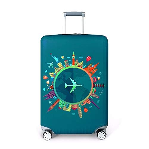 Travel Luggage Cover, Naranja gato Suitcase Protector Washable Spandex Fit for 18-32 Inch Luggage (style1, S)