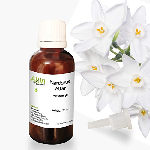Allin Exporters Narcissus Attar - 100% Pure, Natural & Undiluted - 30 ML (1.01 oz)