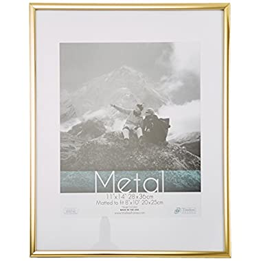 Timeless Frames Metal Wall Photo Frame, 11 by 14-Inch, Gold