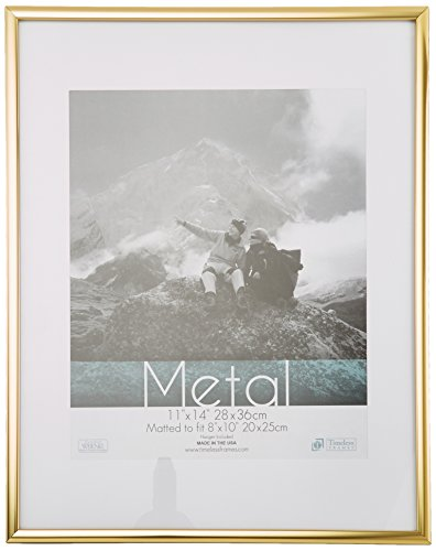 Timeless Frames Metal Wall Photo Frame, 11 by 14-Inch, - Gold Frames Metal