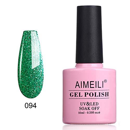 AIMEILI Soak Off UV LED Gel Nail Polish - Chilly Shine Green (094) 10ml