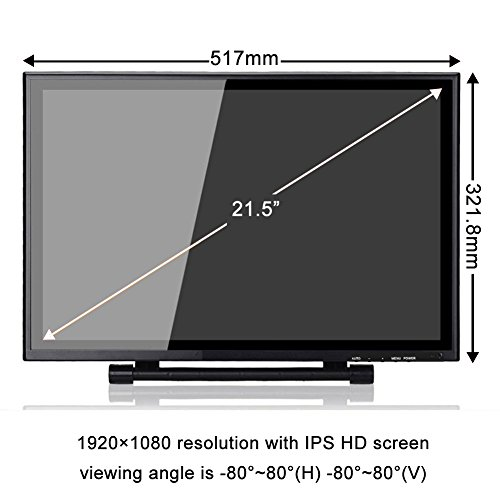 Ugee UG-2150 21.5 Inches LED Graphics Monitor IPS Pen Display HD Resolution Drawing Monitor Dual Monitor with Adjustable Stand, 2 Rechargeable Pens, 1 Drawing Glove, 1 Screen Protector by Ugee (Image #3)