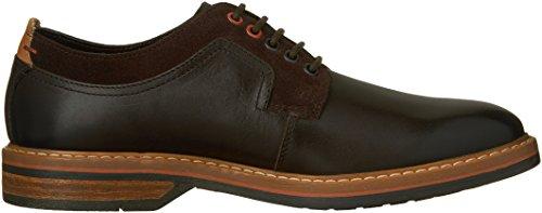 Clarks de hombre Pitney Walk Oxfords zapatos Cuero Marrón Oscuro