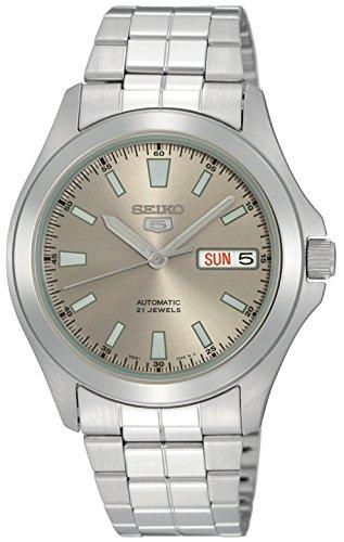 Seiko Reloj Analógico Automático para Hombre con Correa de Acero Inoxidable – SNKL03K1
